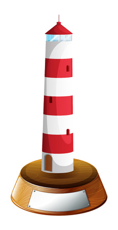 parola: Illustration of a tower-designed trophy on a white background