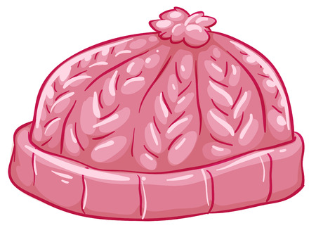 bonnet: Illustration of a pink bonnet on a white background Illustration
