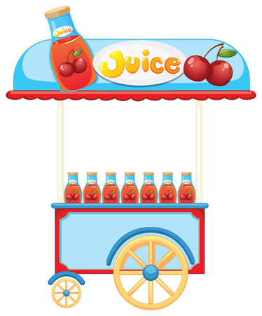 labelling: Illustration of a juice cart on a white background Illustration