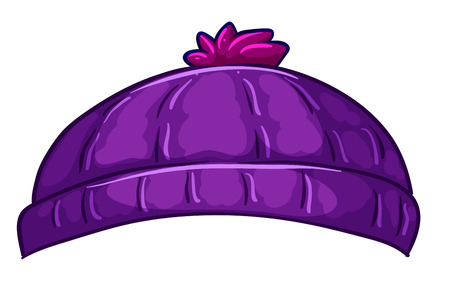 Illustration of a violet bonnet on a white background