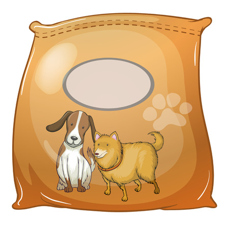 Illustration of a pack of dogfoods with an empty label on a white background Stock Vector - 29111463