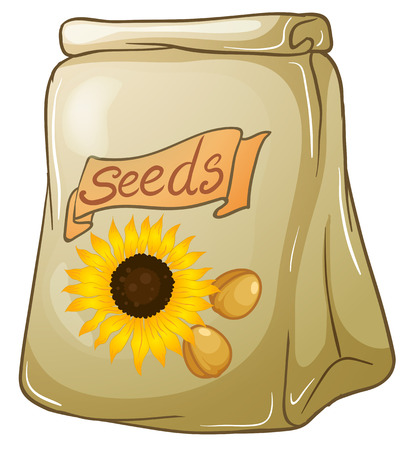 Illustration of a pack of sunflower seeds on a white background Stock Vector - 29111552
