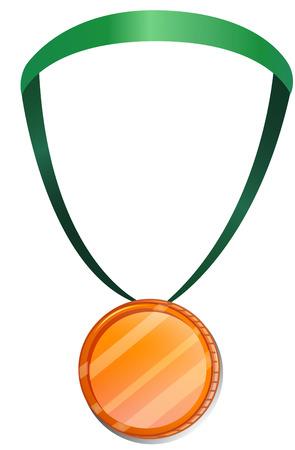 rewarding: Illustration of a medal on a white background