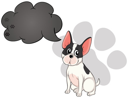 Illustration of a cute dog with an empty callout on a white background Vector