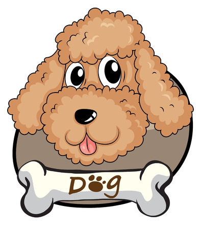 Illustration of a brown puppy on a white background Vector