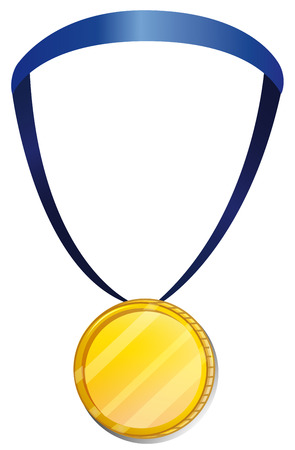 awarding: Illustration of a medal on a white background