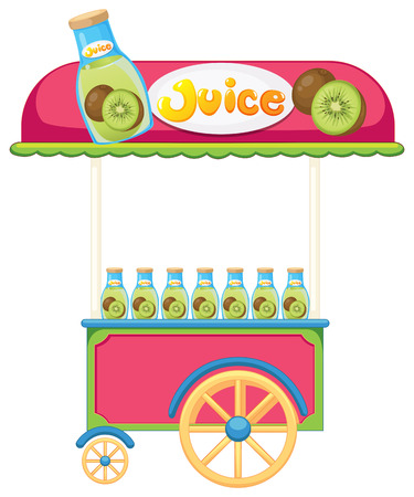 fruit clipart: Illustration of a juice cart on a white background Illustration