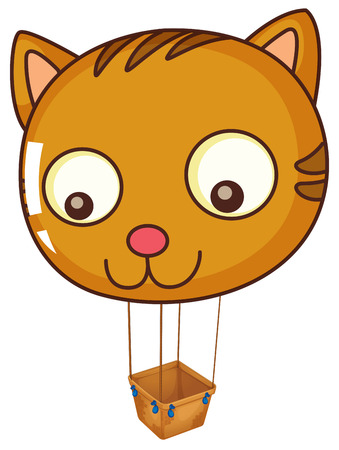 blowing nose: Illustration of a big cat balloon on a white background