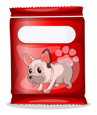 Illustration of a packet of dogfood on a white background Stock Vector - 29663493