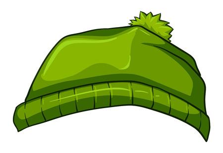 bonnet illustration: Illustration of a green bonnet on a white background