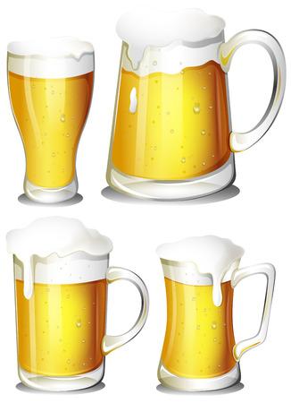poured: Illustration of a set of beer