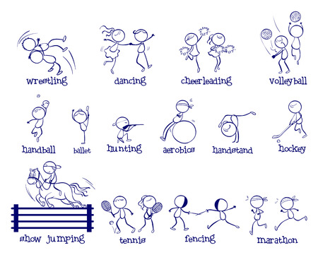 Illustration of variety of sports Vector