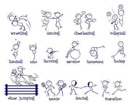 handball: Illustration of variety of sports