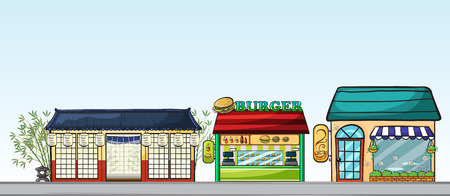 wall angle corner: Illustration of the different stores