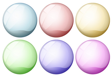 bottons: Illustration of icon bottons on white