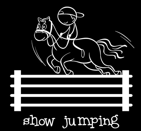 controling: Illustration of a stickman doing jumping Illustration