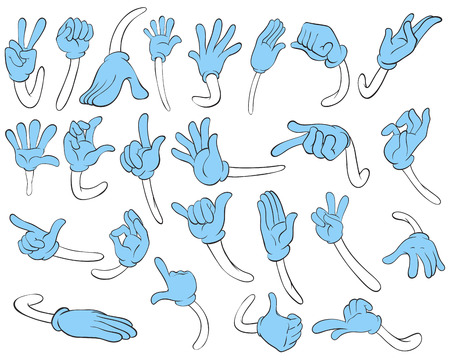 gestures: Illustration of hand gestures