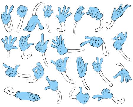 Illustration of hand gestures