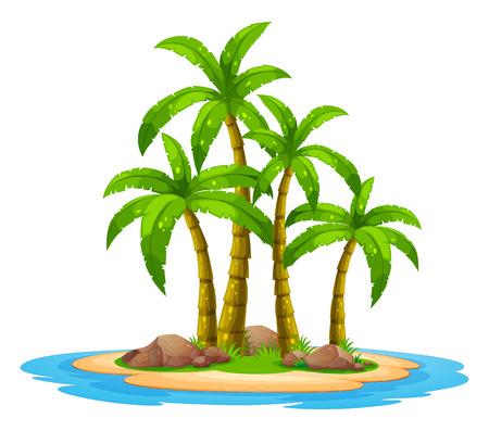 Illustratie van een onbewoond eiland