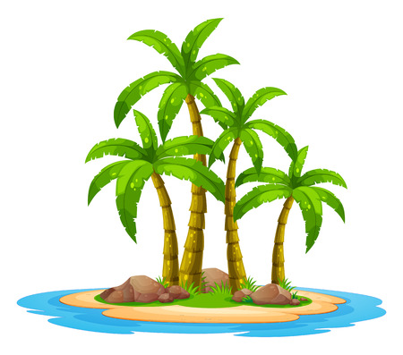 island cartoon: Illustration of an desert island Illustration