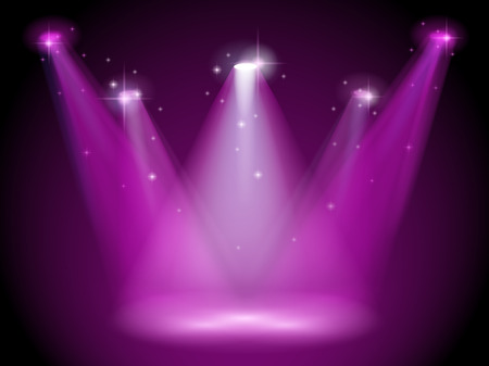 Illustration d'une étape violet Banque d'images - 30599472