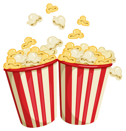 Illustration of two packs of popcorn Vector