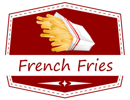 Illustration of french fries Vector