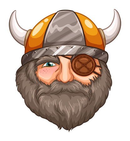 eyepatch: Illustration of a male viking with eyepatch