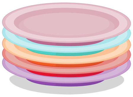 stacked: Illustration of a stack of plates