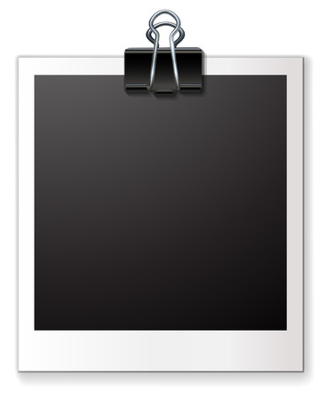 Illustration of a single blank photo frame Vector