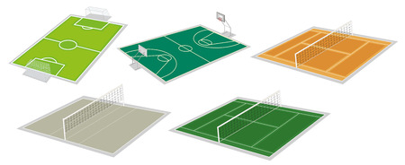 Illustration of the set of courts on a white background Vector