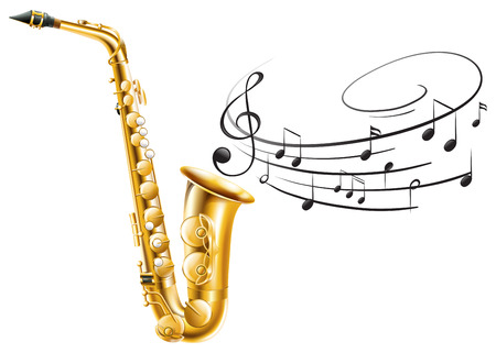 blare: Illustration of a saxophone