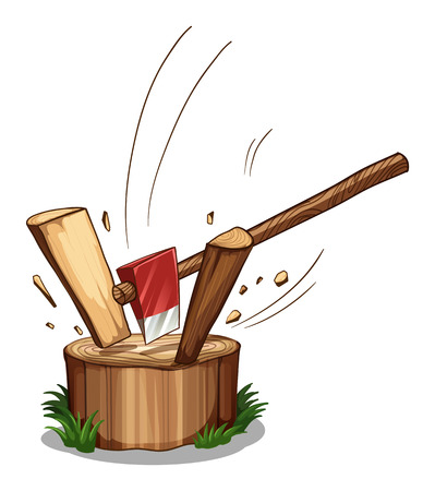 Illustration of a chopping log