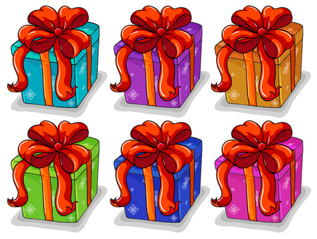 yule tide: Illustration of boxes of presents