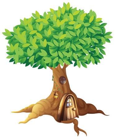 Illustration d'une maison dans un arbre
