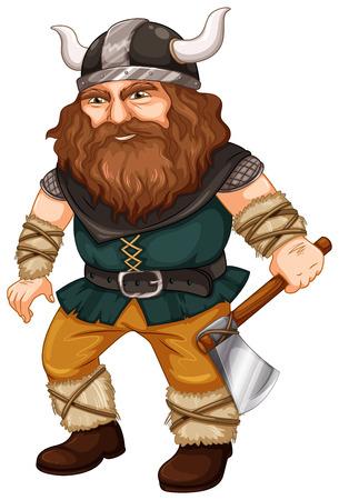Illustration of a viking worrior Vector