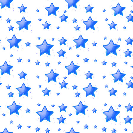 Ilustration of a blue star background Vector