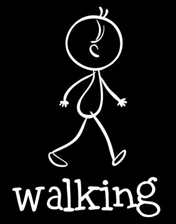 freetime: Illustration of stickman walking