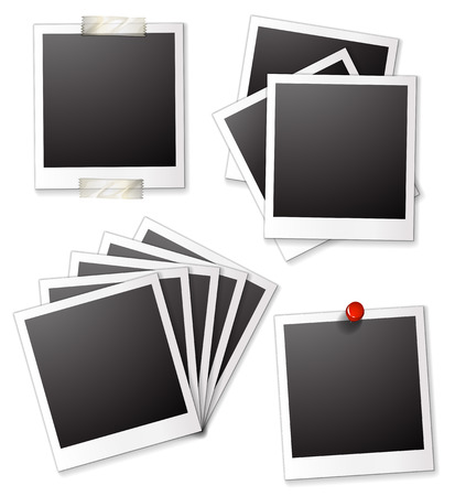 ilustration: Ilustration of many blank photo frames