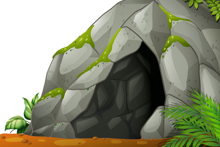 Illustration of a cave 일러스트