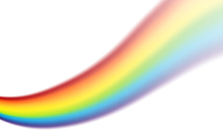 rainbow scene: Illustration of a rainbow swirl