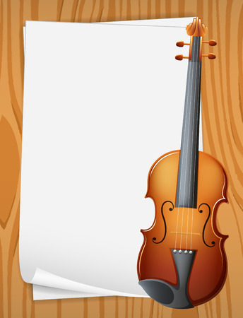 writing instrument: Illustration of a banner with violin