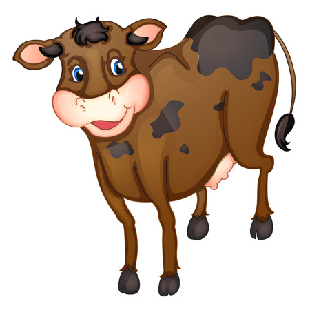 moo: Illustration of a brown cow