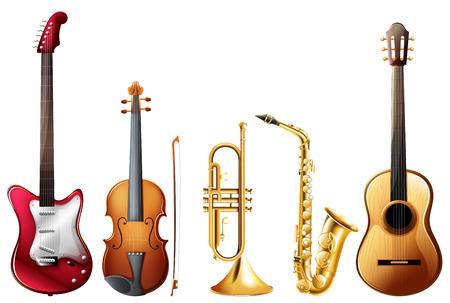 Illustration of a set of instrument
