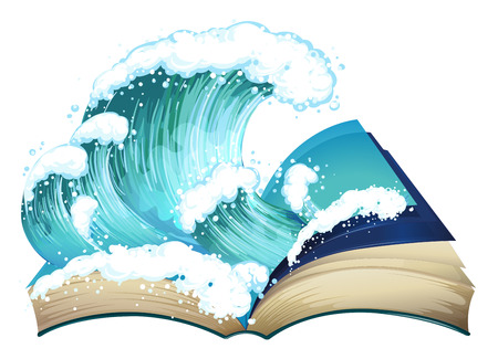 Ilustration of a book with waves Vector