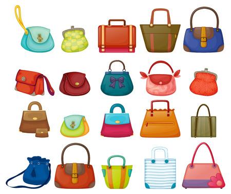 Illustrazione di una serie di borse donna