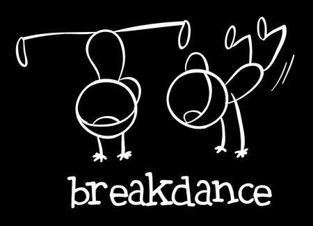freetime: Illustration of breakdance Illustration