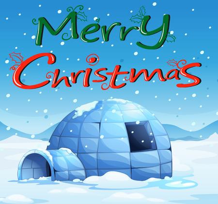 northpole: Illustratie van een kerstkaart