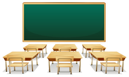 blackboard: Illustration of an empty classroom