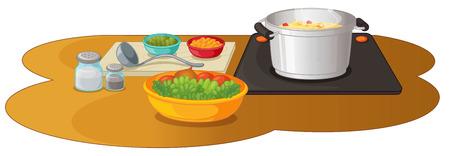 food preparation: Ilustration of a food preparation Illustration